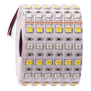 Image 1 - DC12V 24V RGB + CCT taśmy LED SMD 5050 RGBW RGBWW RGB WWA elastyczna taśma led liny taśma dekoracyjna światła 5M