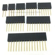 2,54 мм однорядные женские длинные шпильки 11 мм отрывная печатная плата контактный разъем 1*2/3/4/6/8/10/15Pin для Arduino