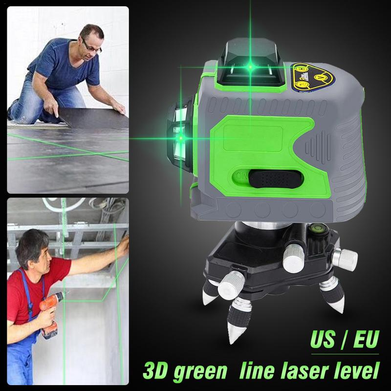 12 Lines 3D Level Self-Leveling 360 Horizontal And Vertical Cross Super Powerful Green Laser Beam Line12 Lines 3D Level Self-Leveling 360 Horizontal And Vertical Cross Super Powerful Green Laser Beam Line