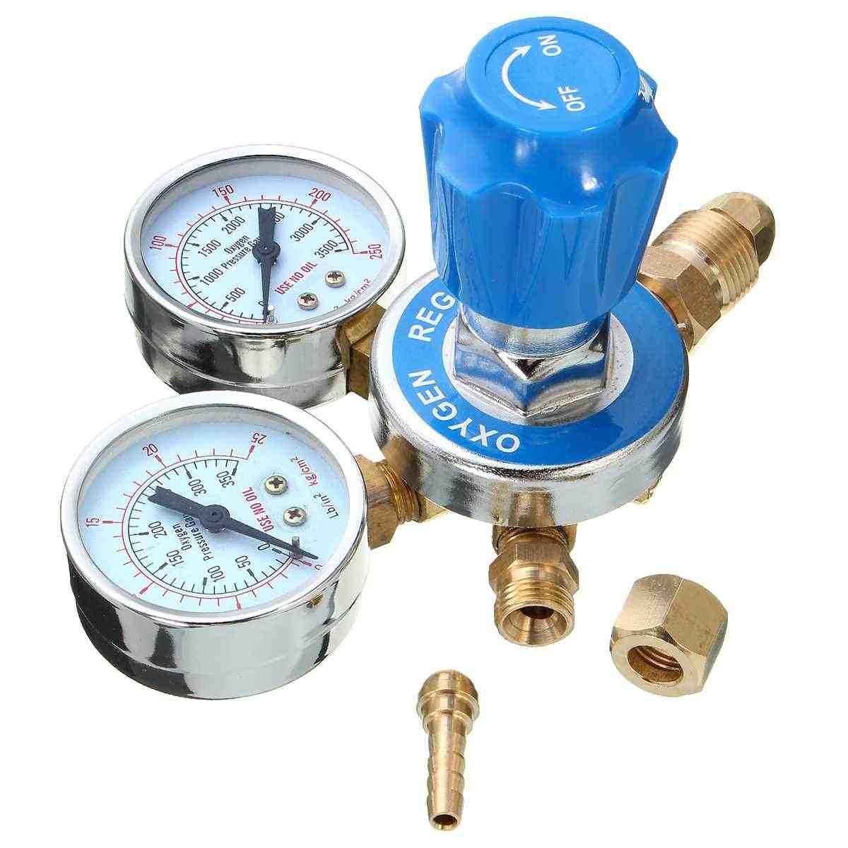 NEW Pressure Reducer o2 Pressure Manometer Pressure Regulator Welding Oxygen Brass