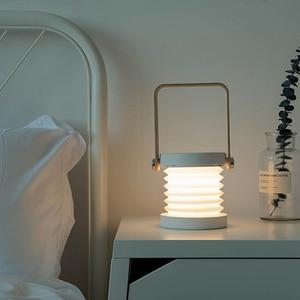 Image 4 - hot sale USB Wooden Handle Portable Lantern Lamp Telescopic Folding Led Table Lamp Charging Night Light Reading Lamp