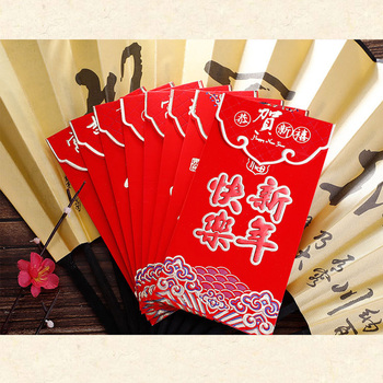 Besegad 36PCS 2019 Chinese Pig New Year Spring Festival Hot Stamping Red Envelopes Hong Bao Lucky Money Packets 16.5x8.5cm