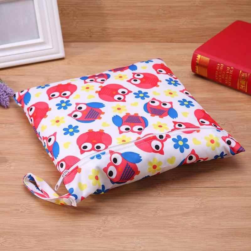 Pro Bebê Carregam Bolsas de Fraldas Fraldas Sacos de Grande Capacidade bolsa de Viagem Ao Ar Livre saco de Fraldas Organizador de Pássaros Dos Desenhos Animados Impresso Vermelho