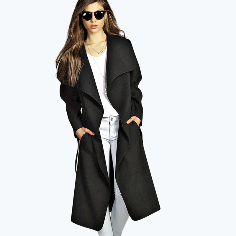Autumn Trench Coat Women Outwear Casual Overcoat Female Solid Long Coats For Ladies Autumn New Trench Coat Women Overcoat Femme