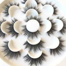 Fashion 7 Pair/Set Eye Lashes Makeup Natural New extension Soft mink False Eyelashes Thick