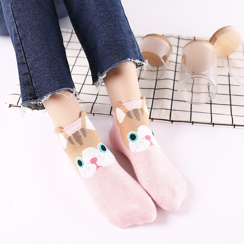 Colorful Fruit Invisible Short Woman Sweat Summer Comfortable Cotton Girl Women's Boat Socks Ankle Low Female 1pair=2pcs Xg13