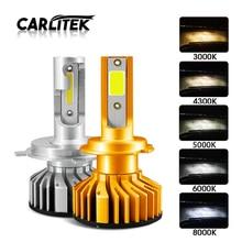 CARLitek 2 Pcs Auto Lampadina Del Faro Kit Mini Formato H7 Led H4 HB3 H11 H1 9005 Auto Luce H3 4300 K 6000 K 50 W 10000LM Canbus Lampadina