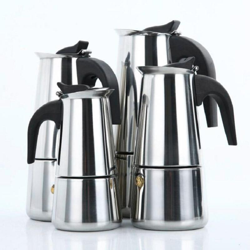 Máquina de Café Espresso Moka Pot Stovetop Coador de Filtro de Café de Piano Cottura Filtro Máquina de Café Cafeteira de café Maker
