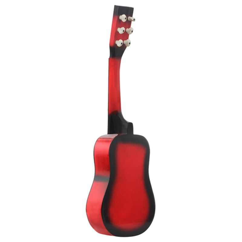 ABGZ IRIN Mini 25 Inch Basswood Acoustic 12 Frets 6 Strings Guitar with Pick and Strings for Children Red Color in Guitar from Sports Entertainment