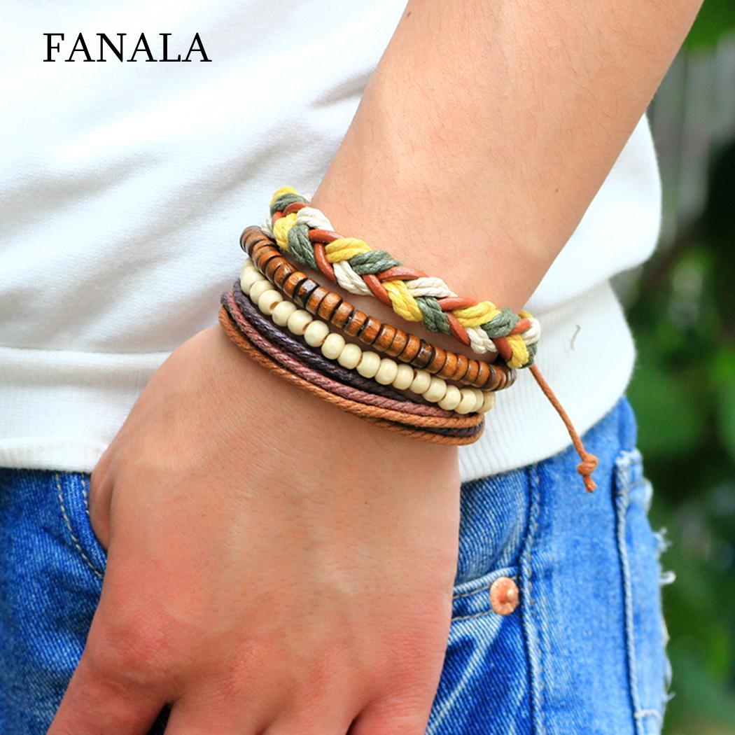 Beaded Bracelet Jewelry Gifts Hand-Woven Adjustable Women Ethnic Multilayer Geometric