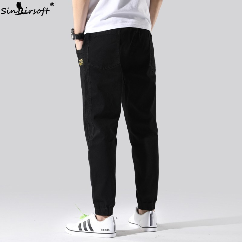New Summer Thin Section Men 39 s Nine Points Beam Pants Loose Casual Large Size S 6XL Cotton Soft Breathable Fashion Wild Jeans Men in Jeans from Men 39 s Clothing