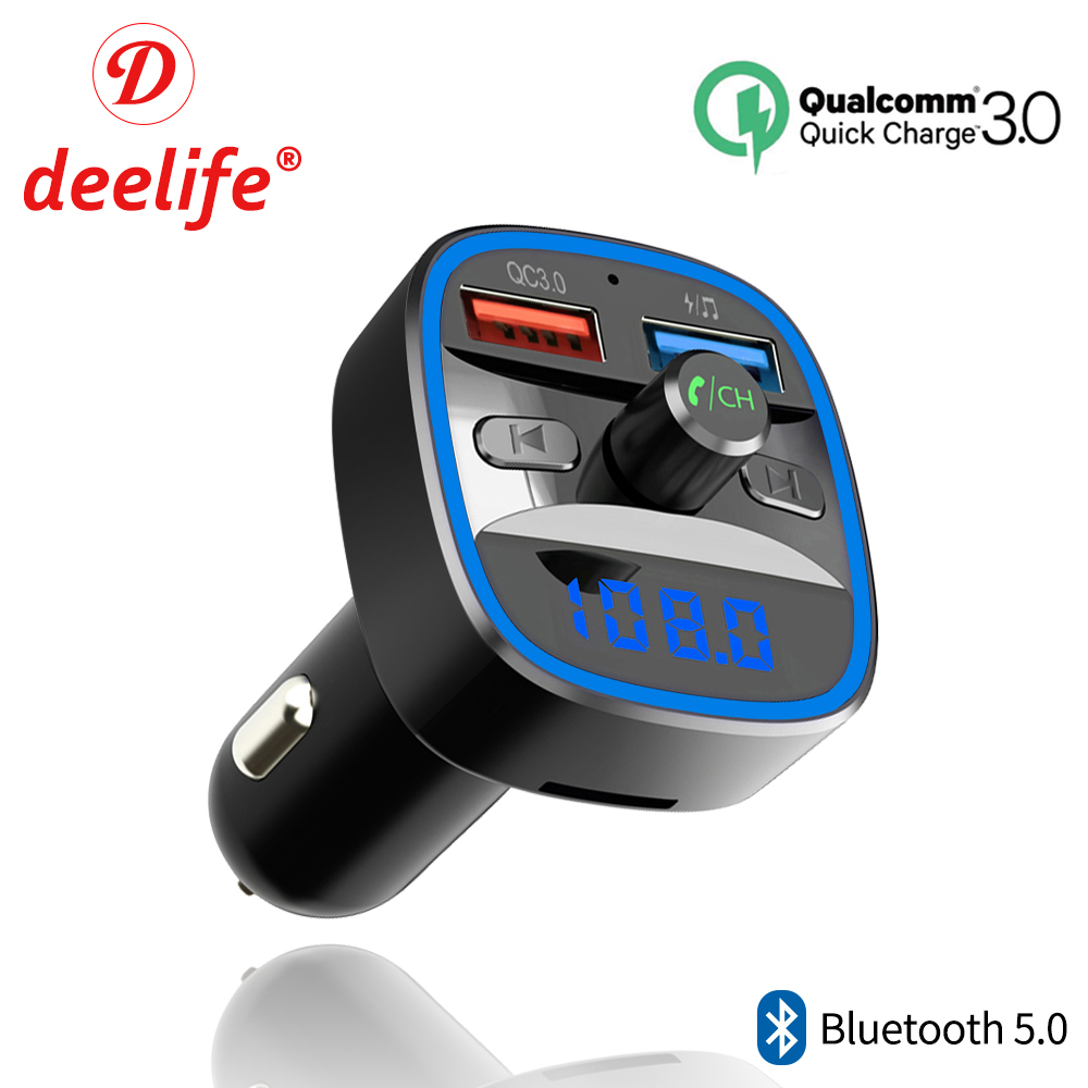 Deelife Fm Transmitter Bluetooth Automotive Equipment Handsfree Wi-fi Bluetooth 5.zero Auto Fm Modulator Radio Usb Fast Charger Mp3 Participant