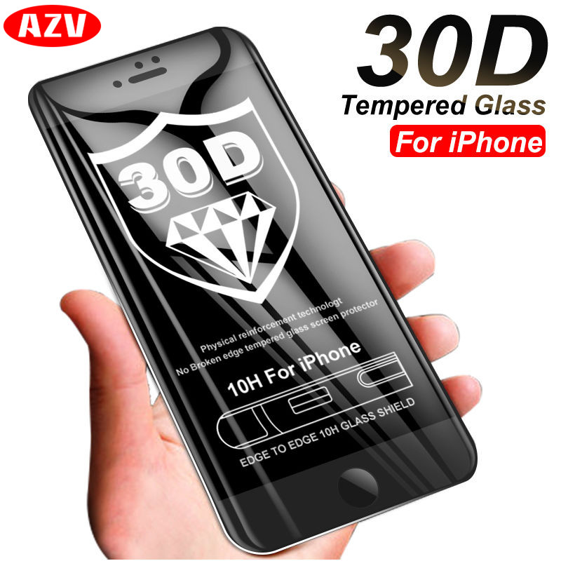 30D Protective Glass on the For iPhone 6 6s 7 8 plus XR X XS glass full cover For iPhone Xs Max Screen Protector Tempered Glass30D Protective Glass on the For iPhone 6 6s 7 8 plus XR X XS glass full cover For iPhone Xs Max Screen Protector Tempered Glass