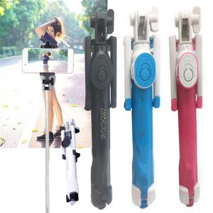 Image 3 - Mini Selfie Stick Extendable Handheld Fold Self portrait Bluetooth Holder Lightweight Travel Hiking Devices With Tripod Mount
