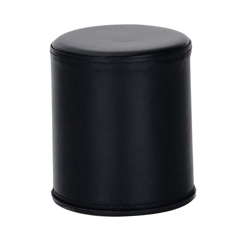 Bar Leather Black Dice Cup Dicebox Party Supplies (Without Tray Or Dice)