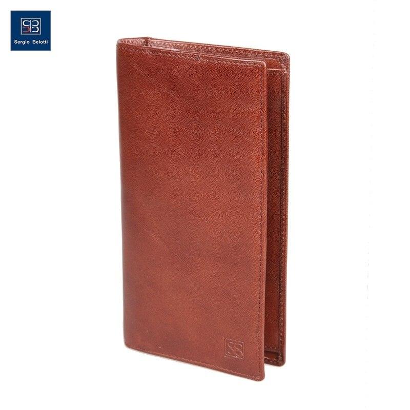 Wallet Sergio Belotti 1462 Milano Brown amalthea genuine leather wallet female