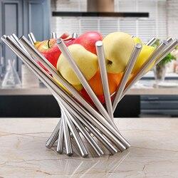 Przechowywanie składany miska na owoce kosz akcesoria do kuchni domowej obróć sitko modna taca ze stali nierdzewnej w Naczynia i talerze od Dom i ogród na