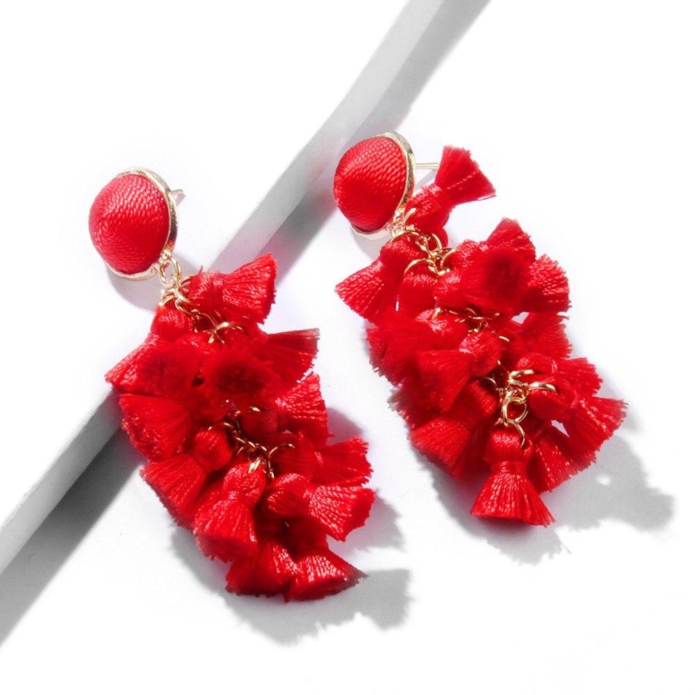 Simple Small Spike Tassel Earrings Jewelry National Romantic Drop Earrings Bohemian Tassel Fringed Earrings in Drop Earrings from Jewelry Accessories