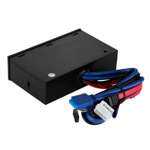"Image 5 - Multifuntion 5.25"" Media Dashboard Card Reader USB 2.0 USB 3.0 20 pin e SATA SATA Front Panel"