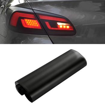 30*150cm Matt Black Automobiles Car Light Headlight Taillight Tint Vinyl Film Sticker Sheet Fog Light Rear Lamp Matt Smoke Film carcardo 40cm x 200cm car headlight taillight tint vinyl film sticker car smoke fog light viny stickers decals car styling
