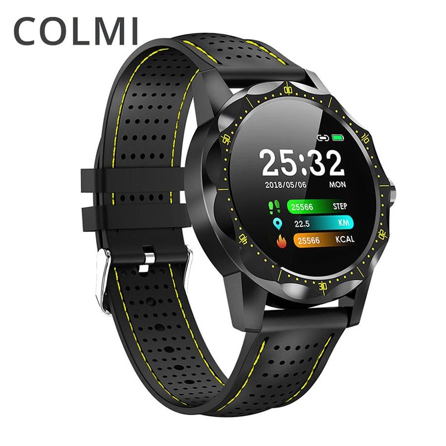 COLMI CÉU Homens IP68 1 Relógio Inteligente À Prova D' Água freqüência cardíaca Aptidão Atividade Rastreador Smartwatch telefone do Relógio para android apple