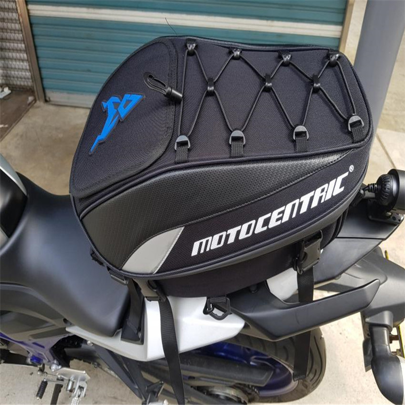 MOTOCENTRIC <font><b>Motorcycle</b></font> Luggage Seat Tail Bag <font><b>Large</b></font> Capacity Luggage Waterproof