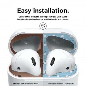Image 5 - Металлическое покрытие защита от пыли для Apple Airpods пылезащитный чехол с накладкой на пылезащитный чехол с наклейкой для наушников 18K позолоченные наклейки