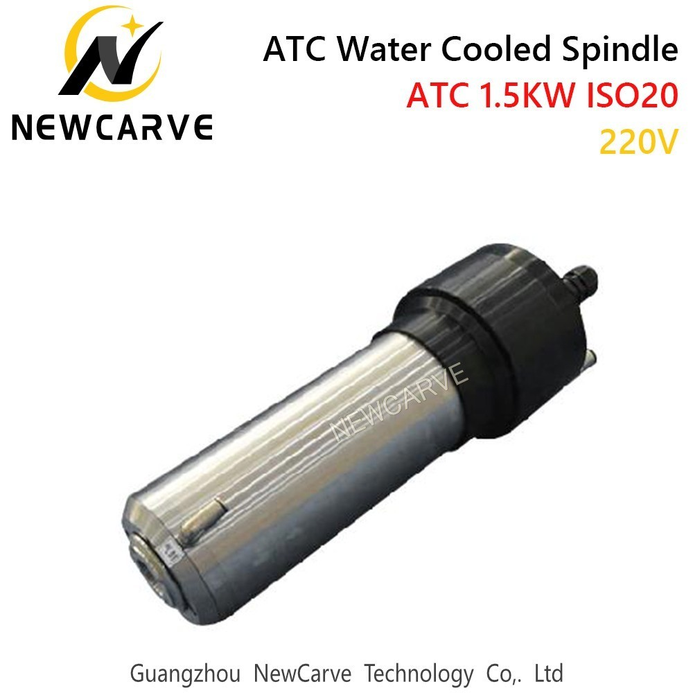 Купить с кэшбэком 1.5KW Water Cooled ATC Spindle Motor 220V ISO20 1000Hz Automatic Tool Change Spindle For Mental Cutting NEWCARVE
