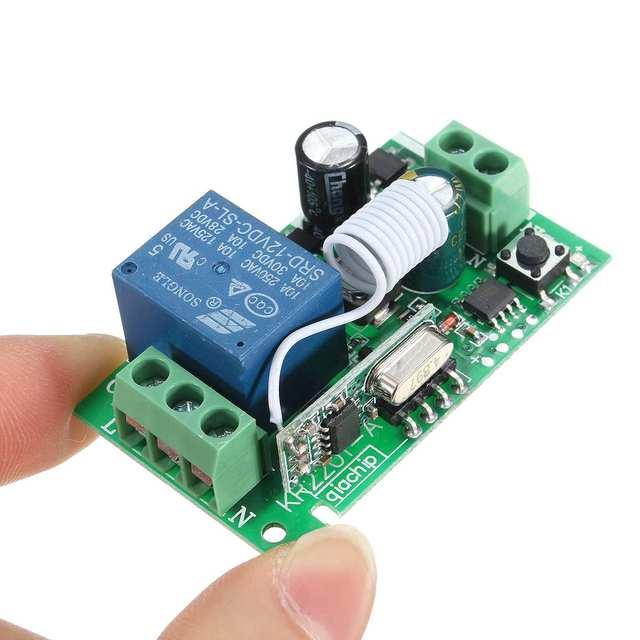 LEORY 1 pc 315 MHz/433 MHz 220 V 10A 1CH Kênh Không Dây RF Tiếp Sức Board Điều Khiển Từ Xa Transmitter receiver Mô-đun Chuyển Đổi
