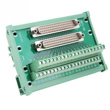 connector db37 d sub female jack 37 pin port terminal breakout 2 row solder free db37 d sub db 37 adapter terminal for db cable DB37-G6 Double Male Head DIN Rail Mount Interface Module Terminal Block Board Connector