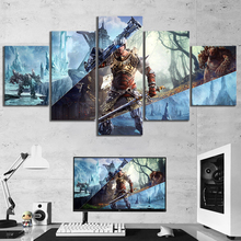 5 Piece RPG Game ELEX Poster Game Canvas Printed Wall Pictures Home Decor For Living Room Poster Canvas Wholesale цена в Москве и Питере
