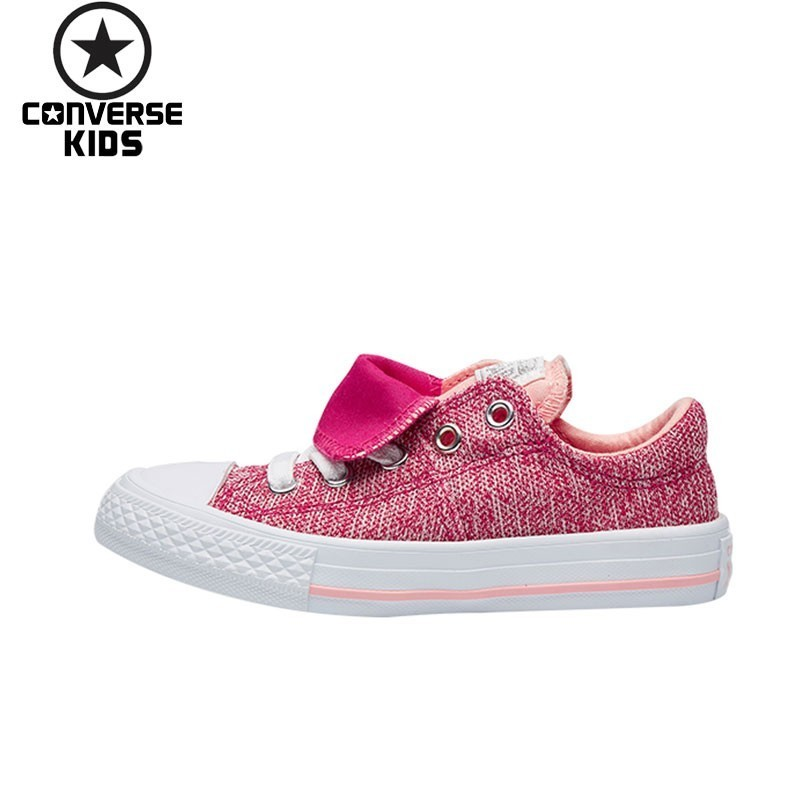 CONVERSE Child Shoes All Star Low Help Children's Shoes Girl Canvas Casual Sneakers 661844C-YS new converse chuck taylor all star ii low men women s sneakers canvas shoes classic pure color skateboarding shoes 150149c