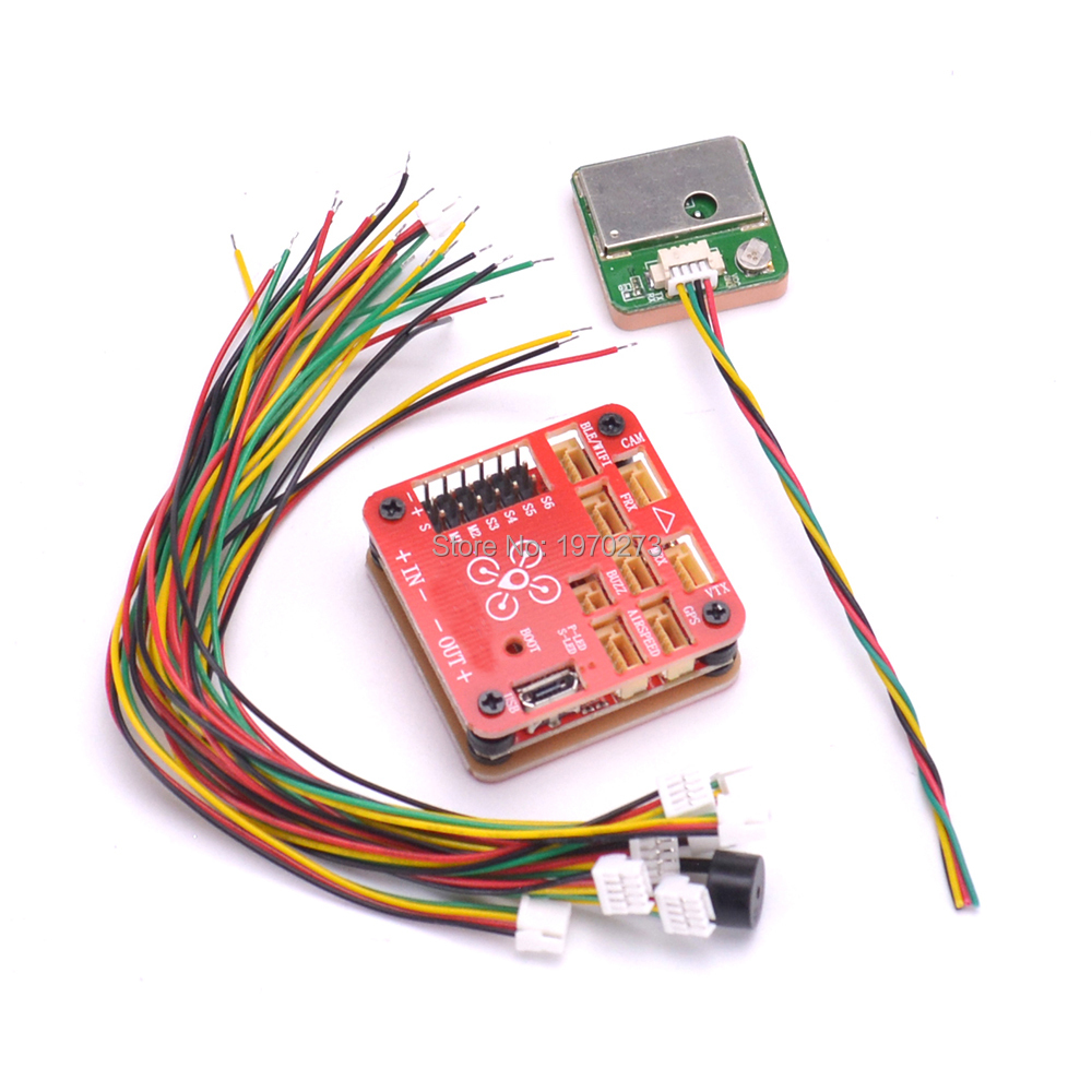 F4 Flight Controller Built-in OSD & Battery Voltage Current Monitor 2-6s M8N 8N GPS With Compass For FPV RC Airplane