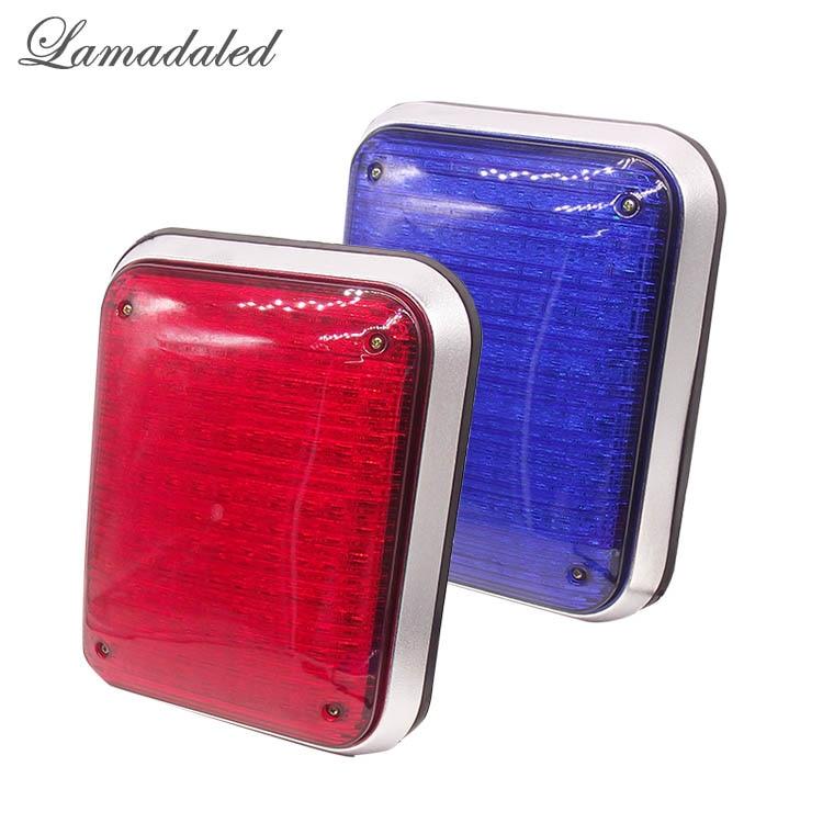 2pcs 27x21cm 134 led high bright ambulance strobe lights fire truck stroboscope 12V 24V police room warning lamp RED BLUE WHITE