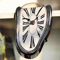 Surreal Melting Distorted Wall Clock Surrealist Salvador Dali Style Wall Clock