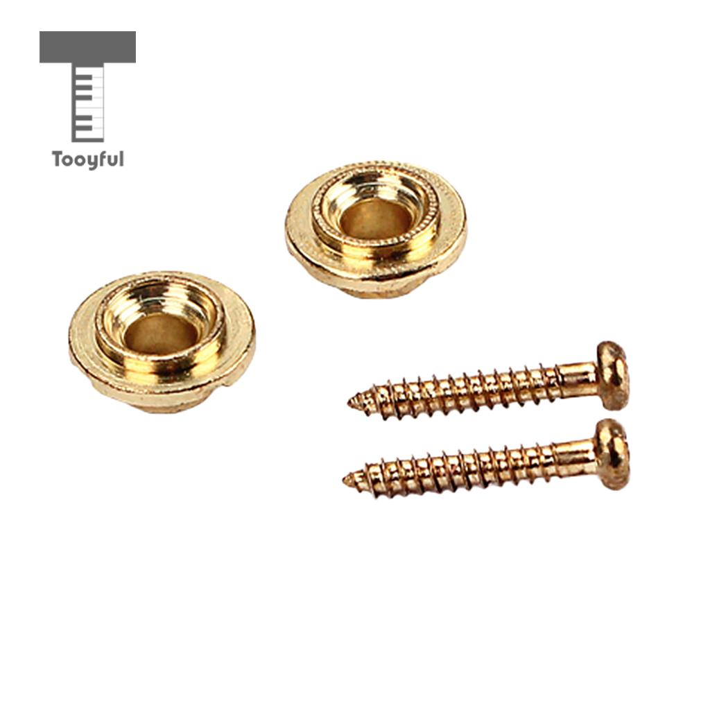 tooyful 2pcs set diy copper round electric guitar string tree retainer for strat tele guitar. Black Bedroom Furniture Sets. Home Design Ideas