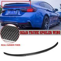 Новый Настоящее углеродного волокна автомобиля багажник на крыше спойлер крыло для BMW F36 428i 430i 435i 440i Gran для Coupe 2014 2018 4Dr спойлер заднего крыла