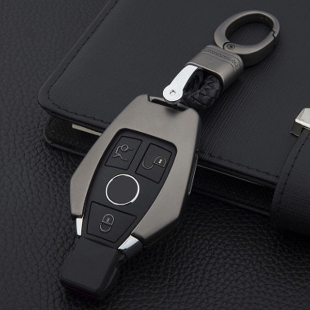 Hot Sales 3 Buttons Metal Remote Key Case Cover Shell Key Chain Ring Flip Key Fob Shell Cover For Mercedes-Benz Class B C E S