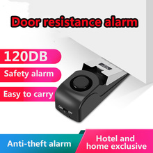 Door Stop Alarm 120DB Anti-theft Safety Door resistance alarm for Hotel Travel  Single Household Self-Protection Alarm