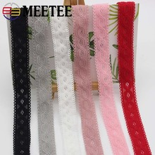 Meetee 22meters 20mm Multicolor Elastic Band Lace Webbing DIY Baby Hair Clothing Sewing Material EB002