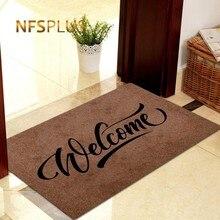 Decorative Front Door Mat Carpet Entrance Doormat for Home and Outdoors 40x60cm Polyester Fiber TPR Anti-Slip Hallway Floor
