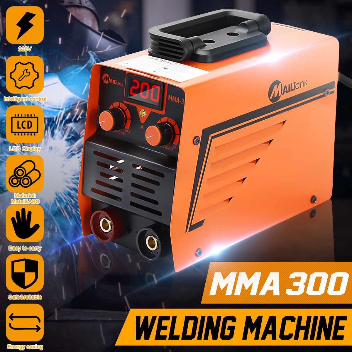 220V 300A ARC Electric Welding Machine MMA 300 IGBT Inverter Rod Stick Welders