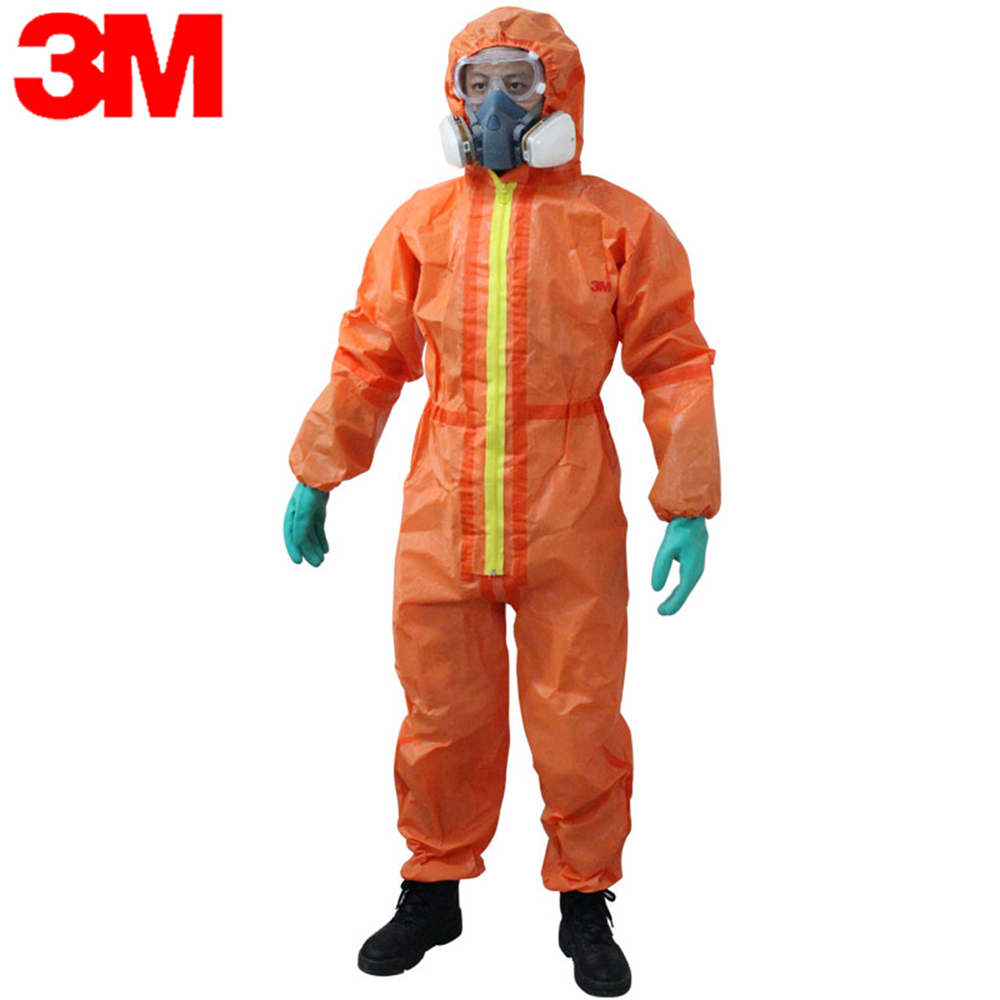 3M 4690 Protection Suit Protective Coverall Chemical Liquid Nuclear Radiation Protection Suit Acid Alkali Resistant Overalls
