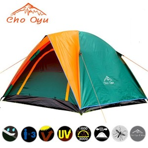 Image 3 - Top Quality Double Layer Camping Tent 3 4 Person with Double Door All Weather Rainproof Seam Taped Outdoor Tent 200x180x140cm
