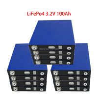 12PCS 3.2V 100Ah LiFePO4 Long LifeCycles 3500 Times Pulse 500A Cell For Camper Van Uninterruptible Power System
