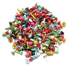 CNIM горячий набор из 200 мини парижских крепежных деталей многоцветный бумажные штампы для скрапбукинга DIY инструмент 4,5 мм
