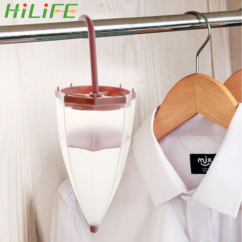 HILIFE For Wardrobe Cupboard Mildew Proof Tool Dehumidifier Bags Hanging Moisture Absorber With DesiccantUmbrella Shaped