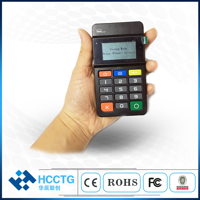 MPOS Mobile Payment Terminal With Keypad Support IC/NFC/Magnetic Android Handheld NFC EMV Card Reader For South Africa HTY711
