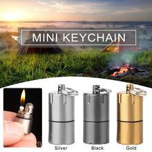 2019 new mini compact kerosene lighter keychain capsule gasoline inflatable outdoor multi-tool