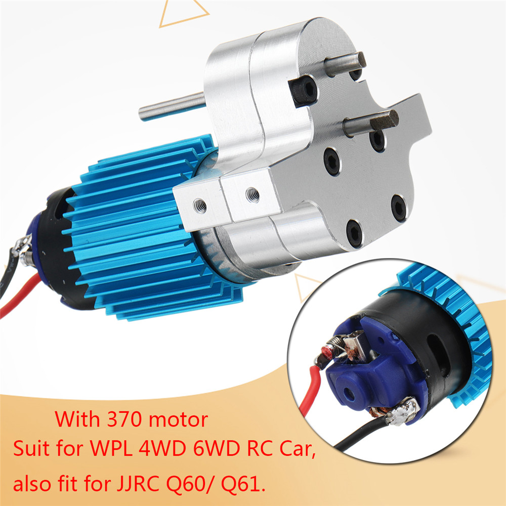 Replace Speed Gear Box Set Upgrade Spare Parts Suit For WPL C14 C24 4WD 6WD RC Car for JJRC Q60/Q61 Remote Control Parts Metal